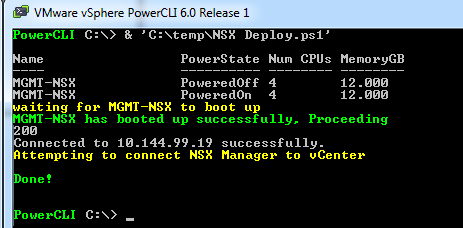 Automatically Deploy NSX and Connect to vCenter