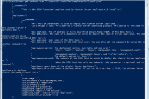 PowerCLI and vCenter Server Appliance (vCSA) 6.0 – Working with JSON
